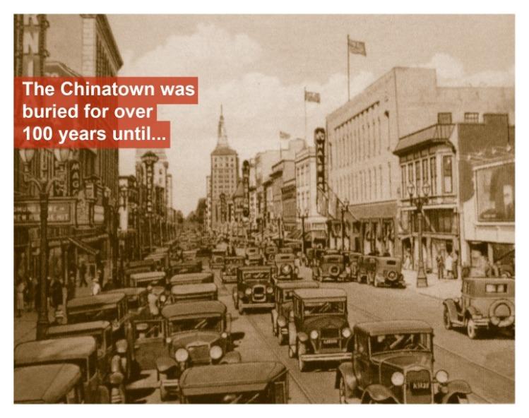 Chinatown was buried until