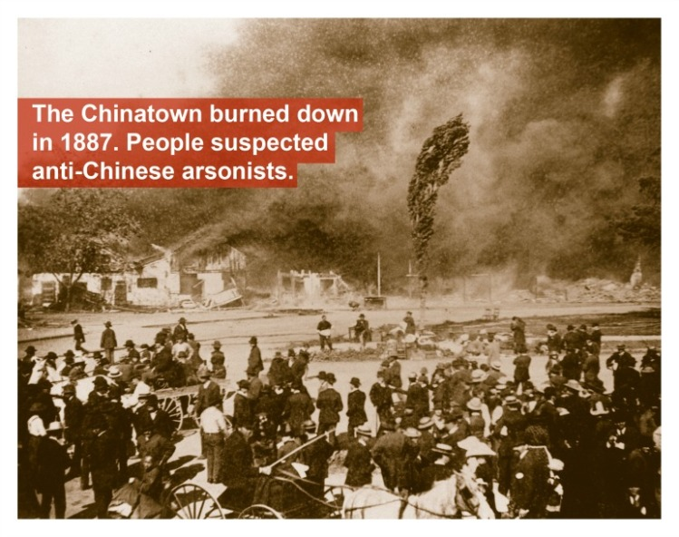 Chinatown burned down in 1887